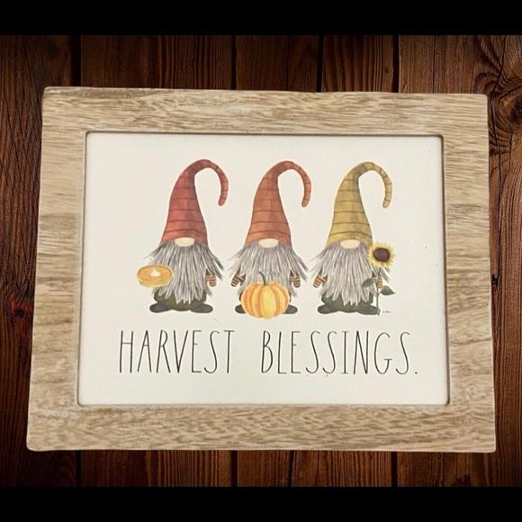 Rae Dunn HARVEST BLESSINGS Sign